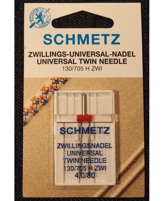 Aiguille SCHMETZ Double Taille 80 4mm.