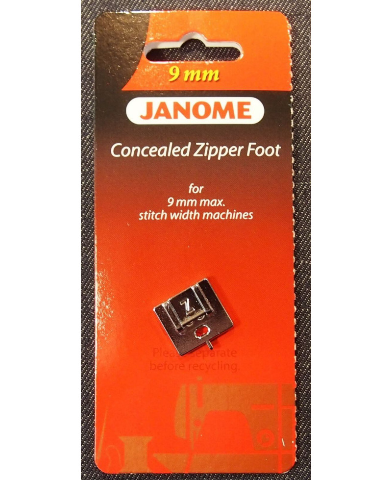 Semelle Fermeture eclair invisible 9mm