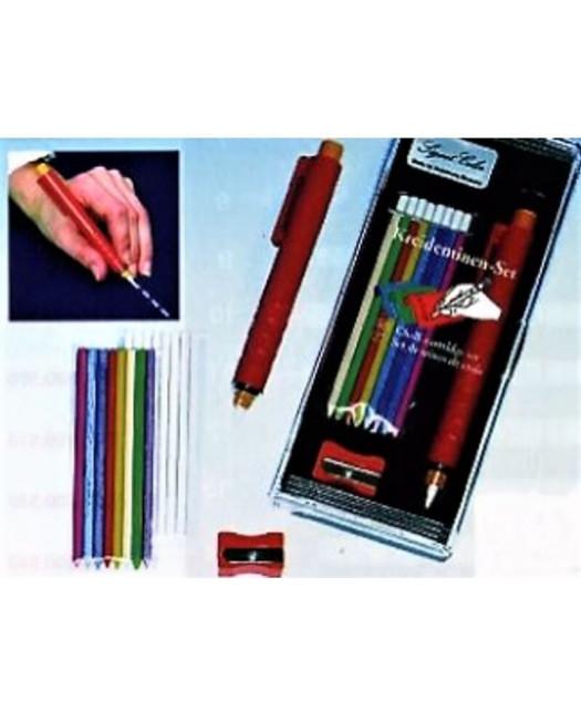 SET Crayon craie porte mine + craies + taille crayon