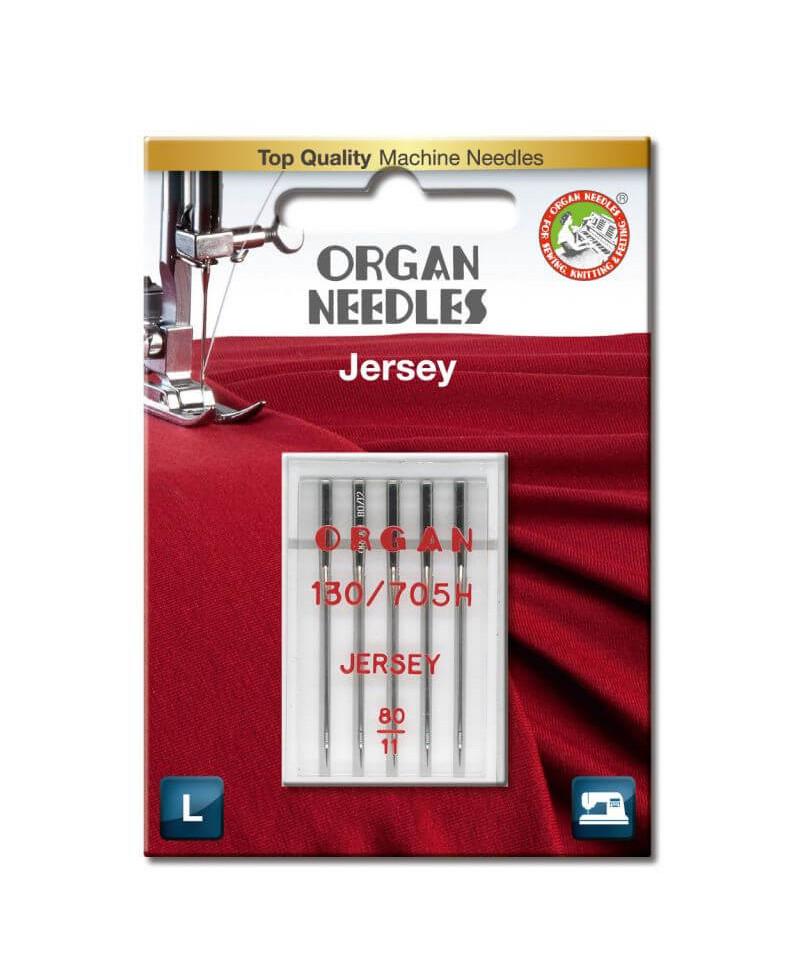 Aiguilles ORGAN Jersey Taille 80 130/705H 5pcs