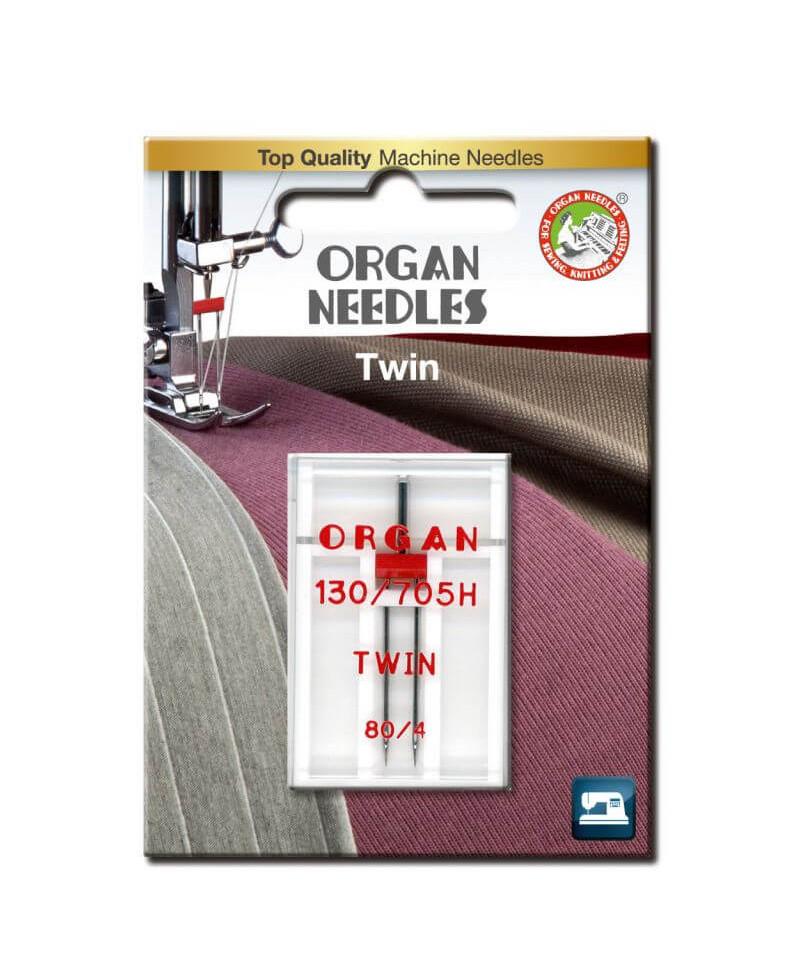 Aiguille Double ORGAN Taille 80 écartement 4mm 1pcs