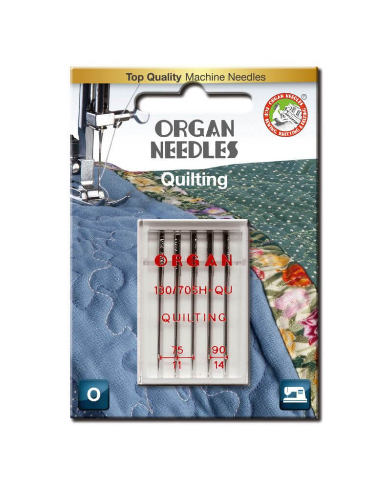 Aiguilles ORGAN Quilting Assortie. 75/90 5pcs