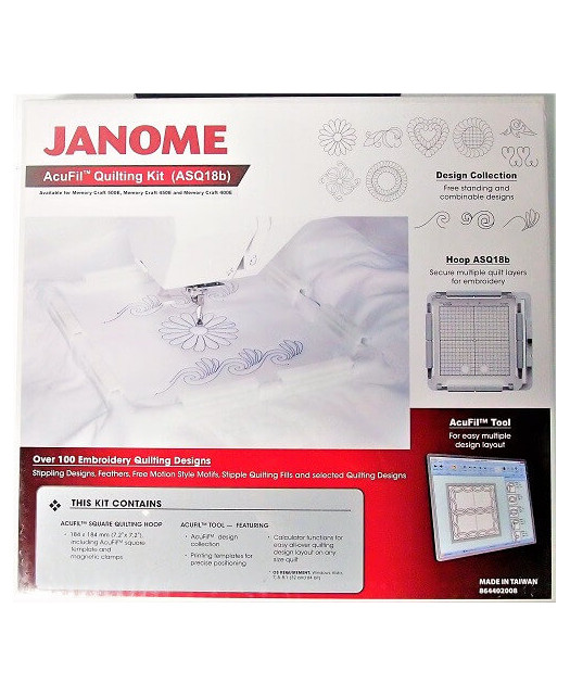 Cadre Quilting Acufil ASQ18b 184mm X184mm Janome 500E